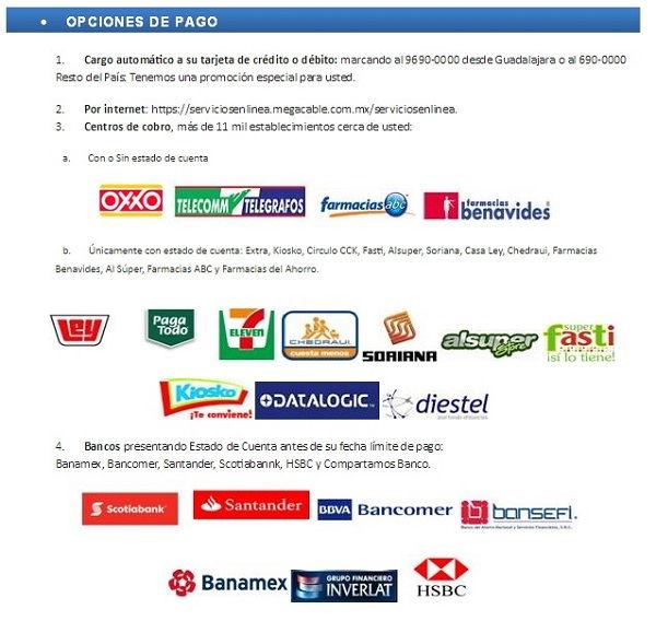 Megacable payment centers