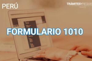 Formulario 1010: Formulario Único de seguros y prestaciones económicas