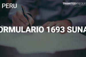 Formulario 1693 para la modificación de datos