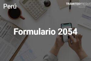 Guía sobre el Formulario 2054 del SUNAT