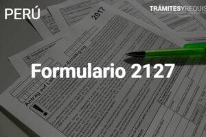 Formulario 2127 – RUC: Solicitud de Modificación del Régimen de Actividades