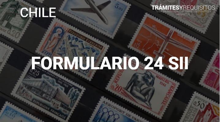 Formulario 24: Pago de Impuesto de Timbres y Estampillas