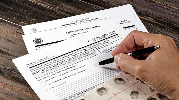Filling out form