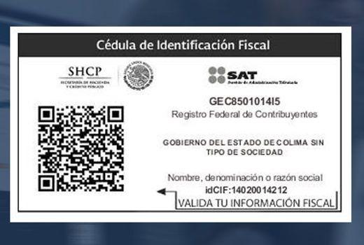 RFC tax identification card