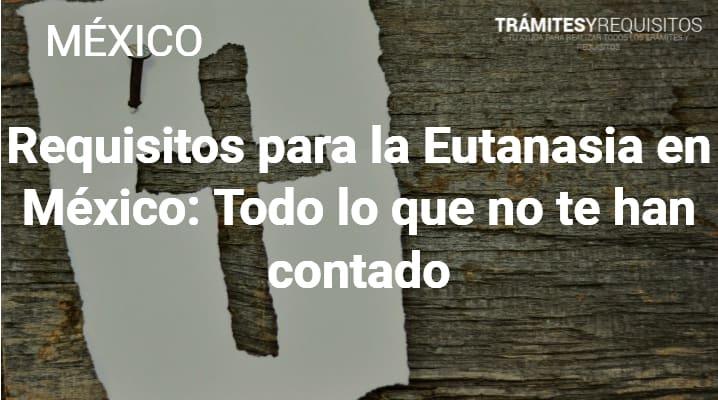 Requisitos para la Eutanasia en México: Todo lo que no te han contado