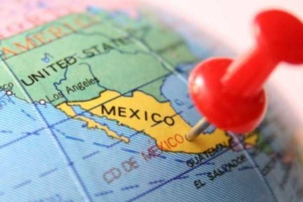 Requirements for traveling from Guatemala to Mexico.  Mexico map
