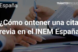¿Cómo obtener una cita previa en el INEM España?