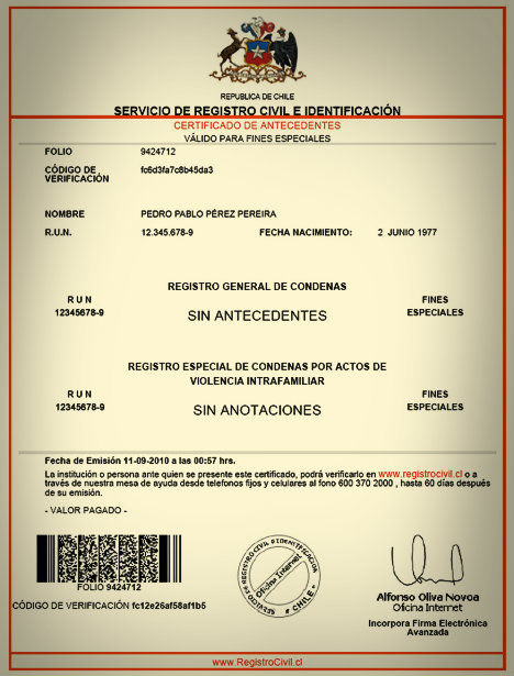 certificate-of-criminal-record-in-chile