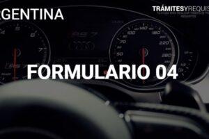 Formulario 04: Cambiar domicilio del titular de un automotor