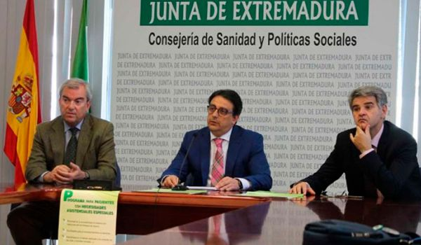 functions of the health service of Extremadura