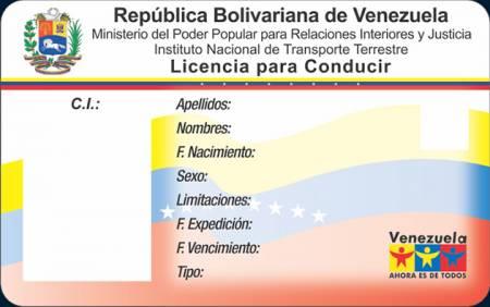Venezuela driver's license