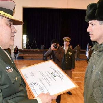 gendarmerie officer and recruit