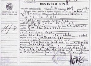 Certificate of deficiency