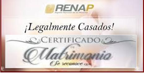 Renap marriage certificate