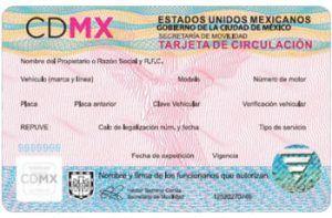tarjeta de circulacion Mexico